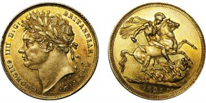 Geroge IV, Gold Sovereign, 1821.