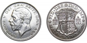 George V, Silver Half-Crown, 1928