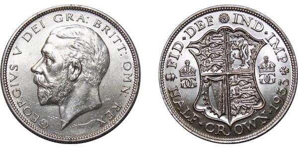 George V, Silver Half-crown, 1933