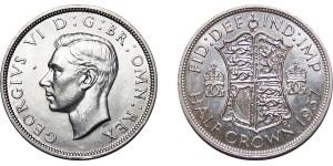 George VI, Silver Half-crown, 1937