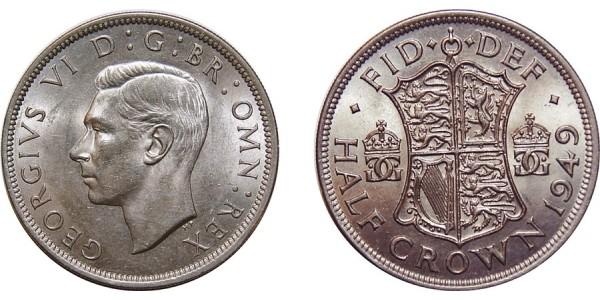 George VI, Silver Half-crown, 1949