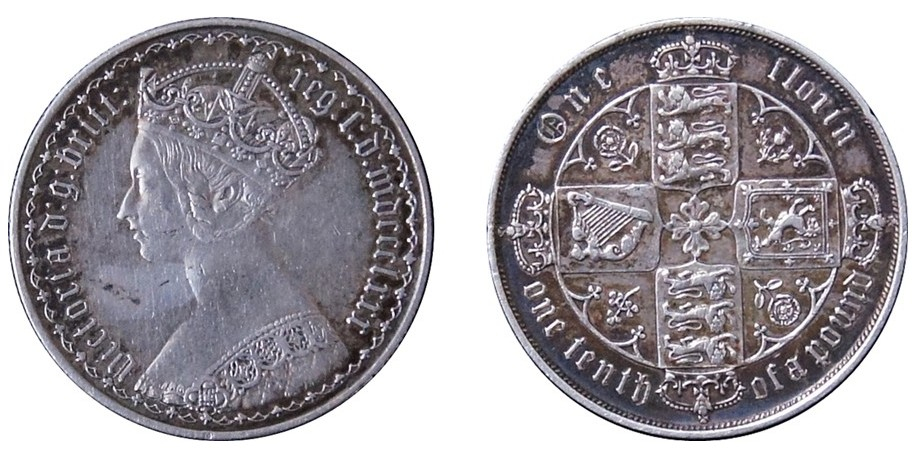 Victoria, Gothic Silver Florin 1880