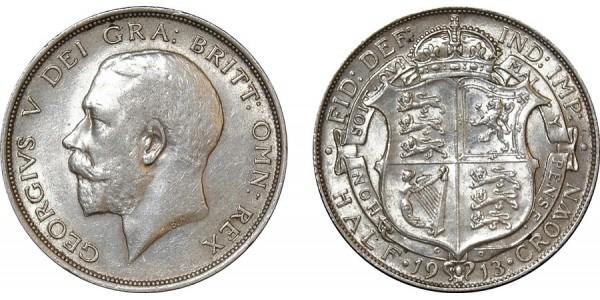 George V, Silver Half-crown, 1913.