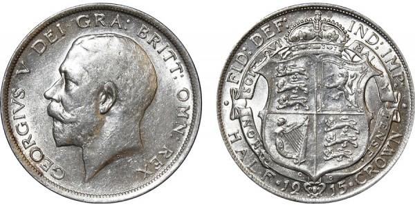 George V, Silver Half-crown, 1915