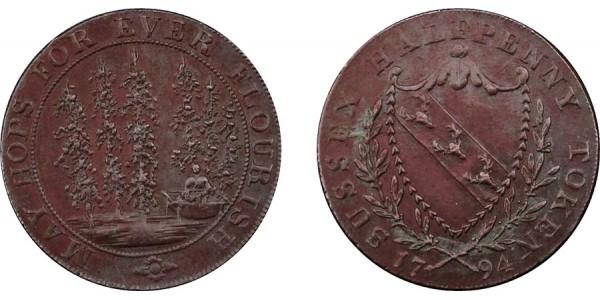 Kent. Lamberhurst. 1794. Halfpenny Token. D&H 34