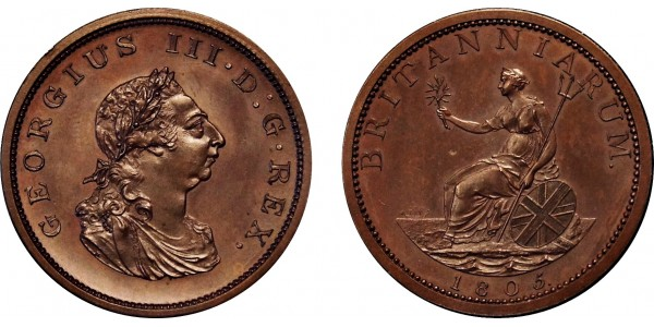 George III, Bronzed Pattern Restrike. 1805.