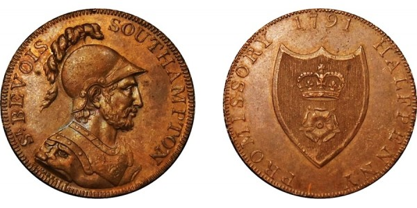 Hampshire. Portsmouth. Halfpenny Token. 1795. D&H 89