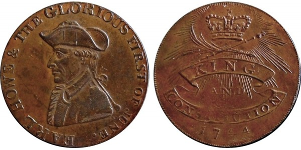 Hampshire. Emsworth. Halfpenny Token. 1794. D&H 20 A