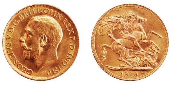 George V, Gold Sovereign, 1913