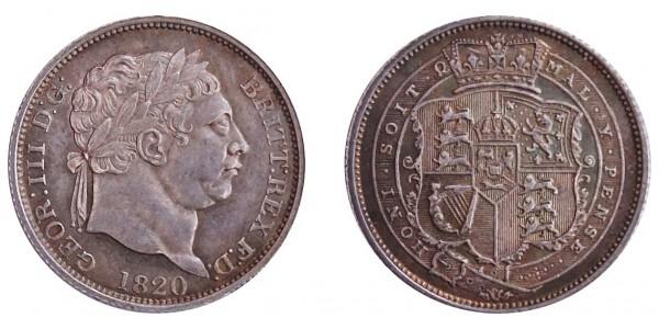 George III, Silver Shilling, 1820