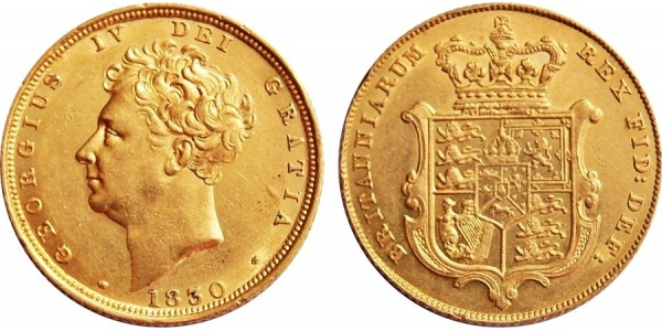 George IV, Gold Sovereign, 1830