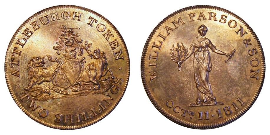 Norfolk, Atteleborough Two Sillings. 1811. Dalton 4.