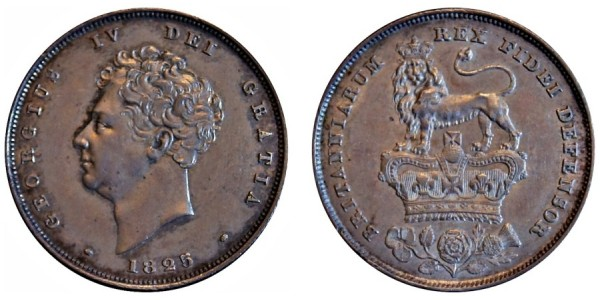 George IV, Silver Shilling, 1825
