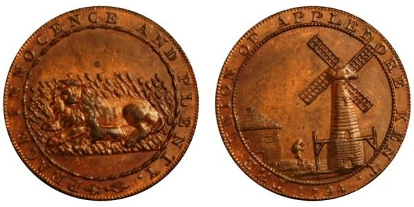 Kent. Appledore. Lion & Lamb.1794. D&H 3A