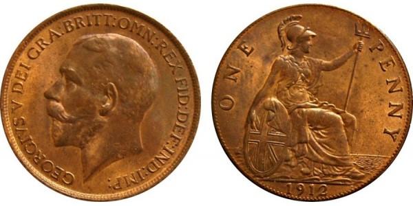 George V, Bronze Penny, 1912