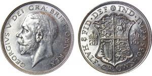 George V, Silver Half-Crown, 1935