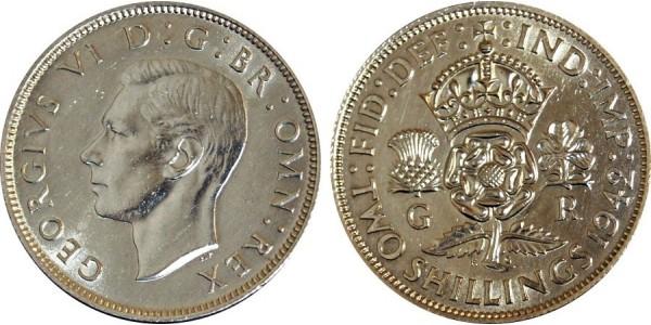 George VI, Silver Florin, 1942
