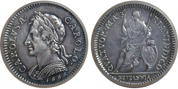 Charles II, Silver Pattern Farthing, 1665