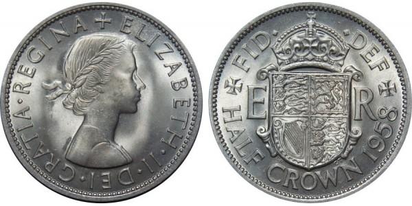 Elizabeth II, Half-crown. 1954