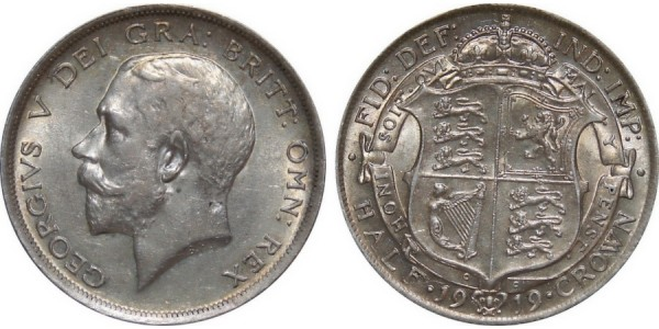 George V, Silver Half-crown, 1919