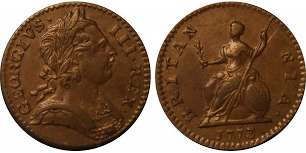 George III, Copper Farthing, 1773