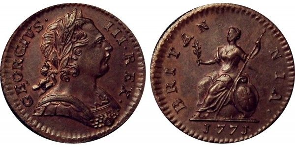 George III, Copper Farthing, 1771