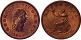 George III, Copper Halfpenny, 1806.