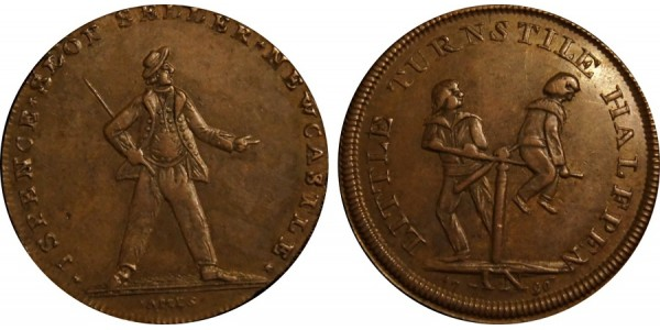 Northumberland. A Sailor Halfpenny.  DH 16