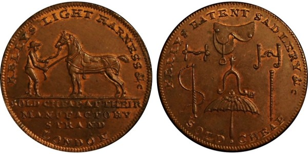 Middlesex. Kelly's Halfpenny.  DH 345