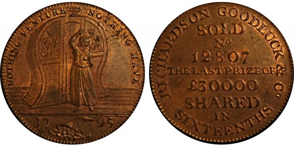 Middlesex. Richardson's Halfpenny.  DH 471