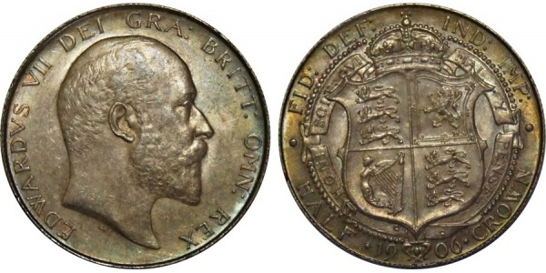 Edward VII, Silver Half-crown, 1906