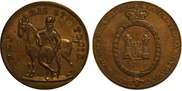 SUFFOLK. HOXNE.Halfpenny. 1794. D&H 33A