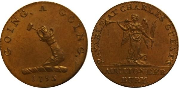 SUFFOLK. BURY. Halfpenny. 1795. DH 30