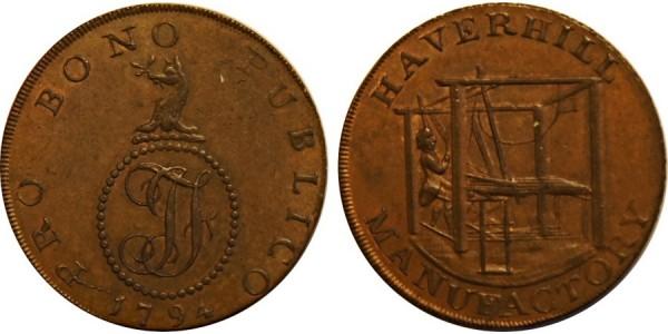 SUFFOLK. HAVERHILL. 1794. Halfpenny.  DH31