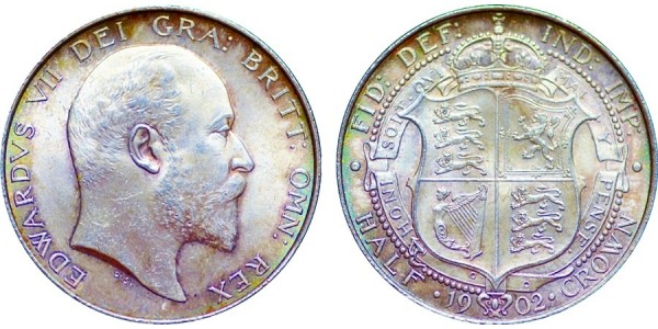 Edward VII, Silver Half-crown, 1902
