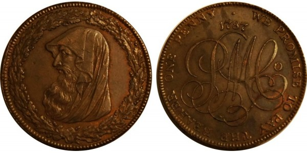 ANGLESEY. Penny. 1787 D&H 47
