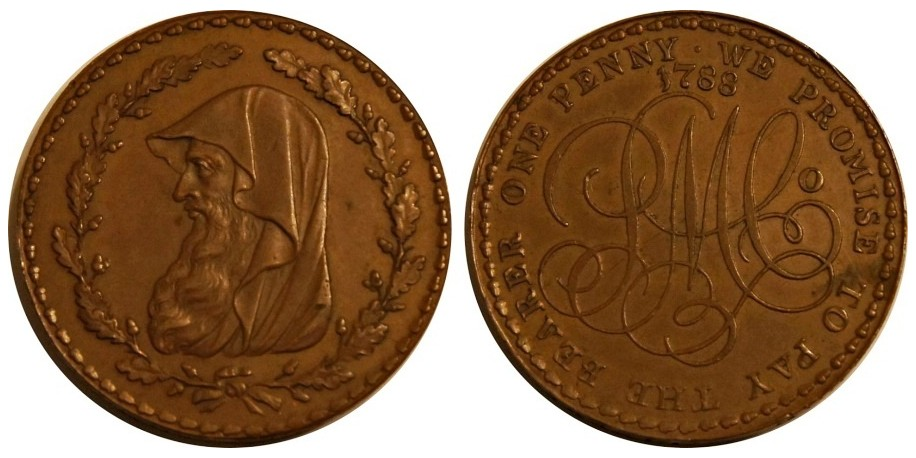 ANGLESEY. Penny. D&H 110. 1788. Very rare.