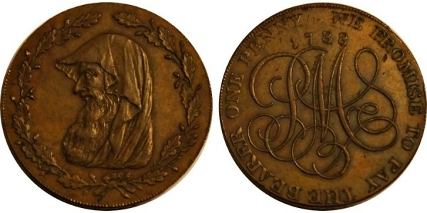 ANGLESEY. Penny. 1788. D&H 168