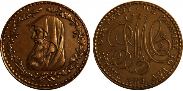 ANGLESEY. Penny. 1788. D&H 235.