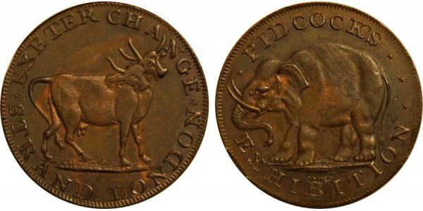 Middlesex. Pidcock's Halfpenny. DH 422