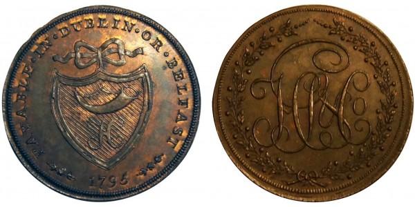 Dublin. Prattent's  Halfpenny. 1795.  DH 316
