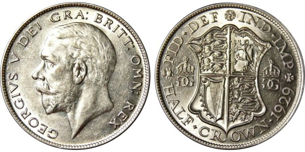 George V, Silver Half-Crown, 1929