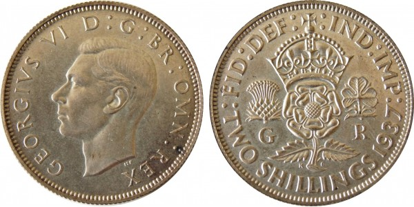 George VI, Proof Silver Florin, 1937