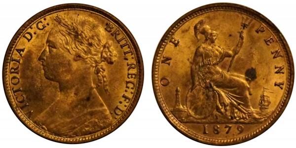Victoria, Bronze Penny, 1879