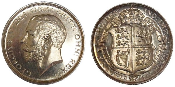 George V, Silver Proof Half-crown, 1911