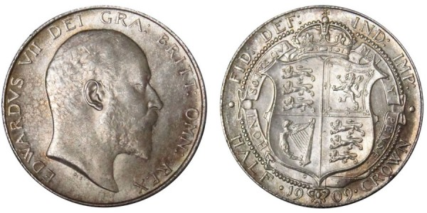Edward VII, Silver Half-crown, 1909