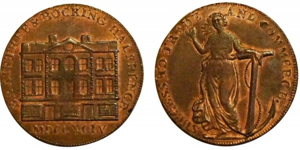 Essex. Goldsmith's Halfpenny. 1794. DH 3.