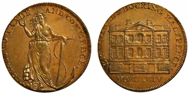 Essex. Goldsmith's Halfpenny. 1794. DH 4.