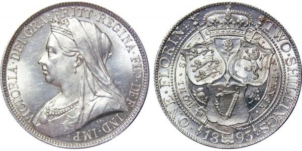 Victoria, Silver Florin, 1893