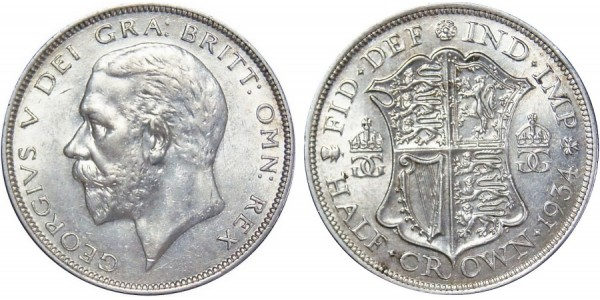 George V, Silver Half-crown, 1934.